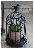 Metal Cages with Bird Ornament in Black with Latch!