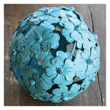 "4"" Metal Flower Spheres"