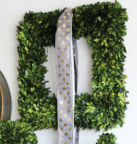 "20"" Square Preserved Boxwood Wreath"