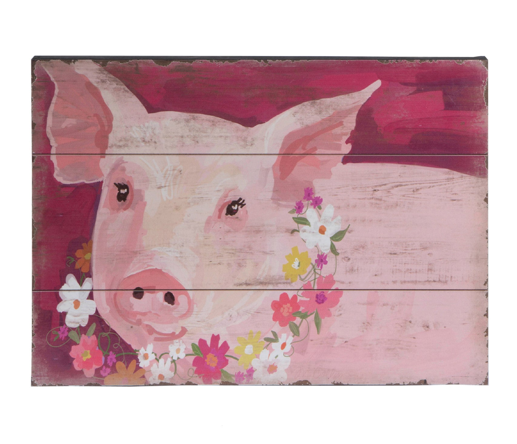 The Perfect Pig on Slat Wood!