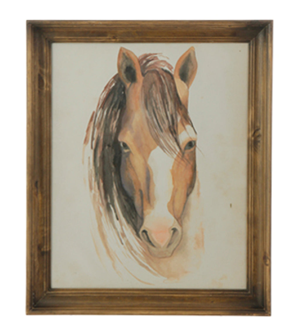 Framed Horse Print with Glass!