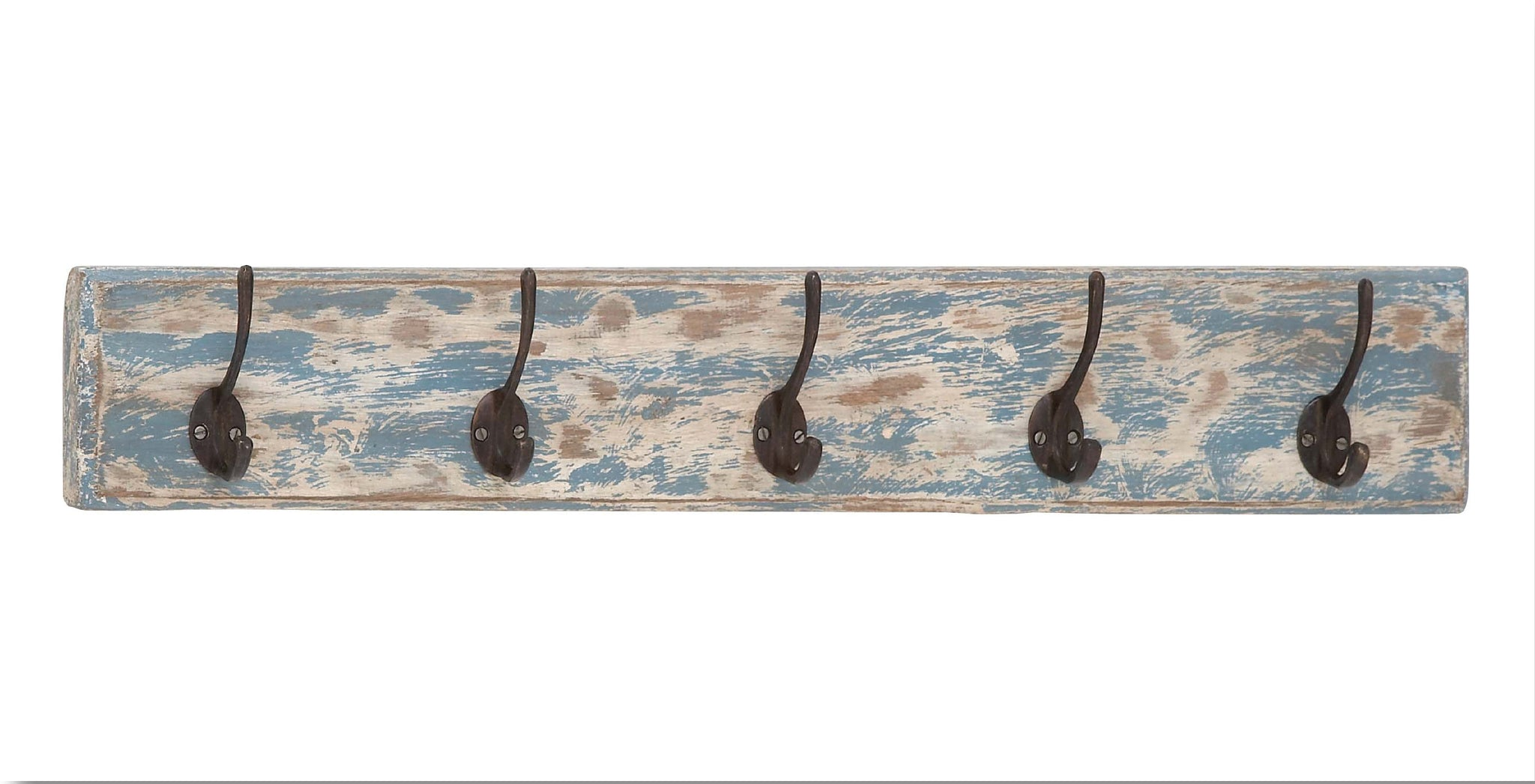 Handsomely Distressed Wood & Metal Wall Hook!