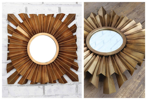 Exquisite Pleated Metal Mirror