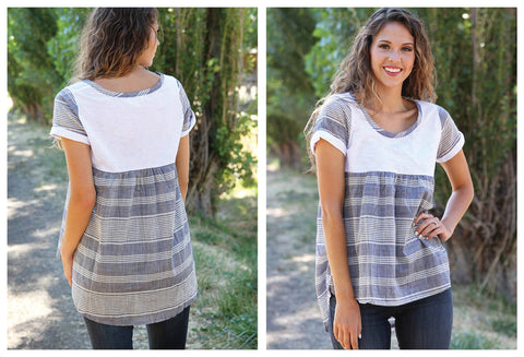 Stylish Block & Stripes Shirt