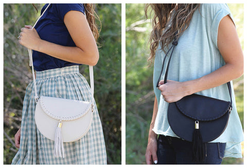 Shoulder Bags with Tassel Detail & Gold Hardware
