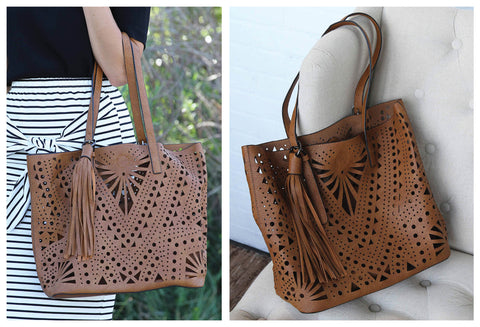 Amazingly Detailed Camel Tote with Removable Pouch