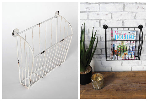 Metal Wall Baskets in 2 Colors
