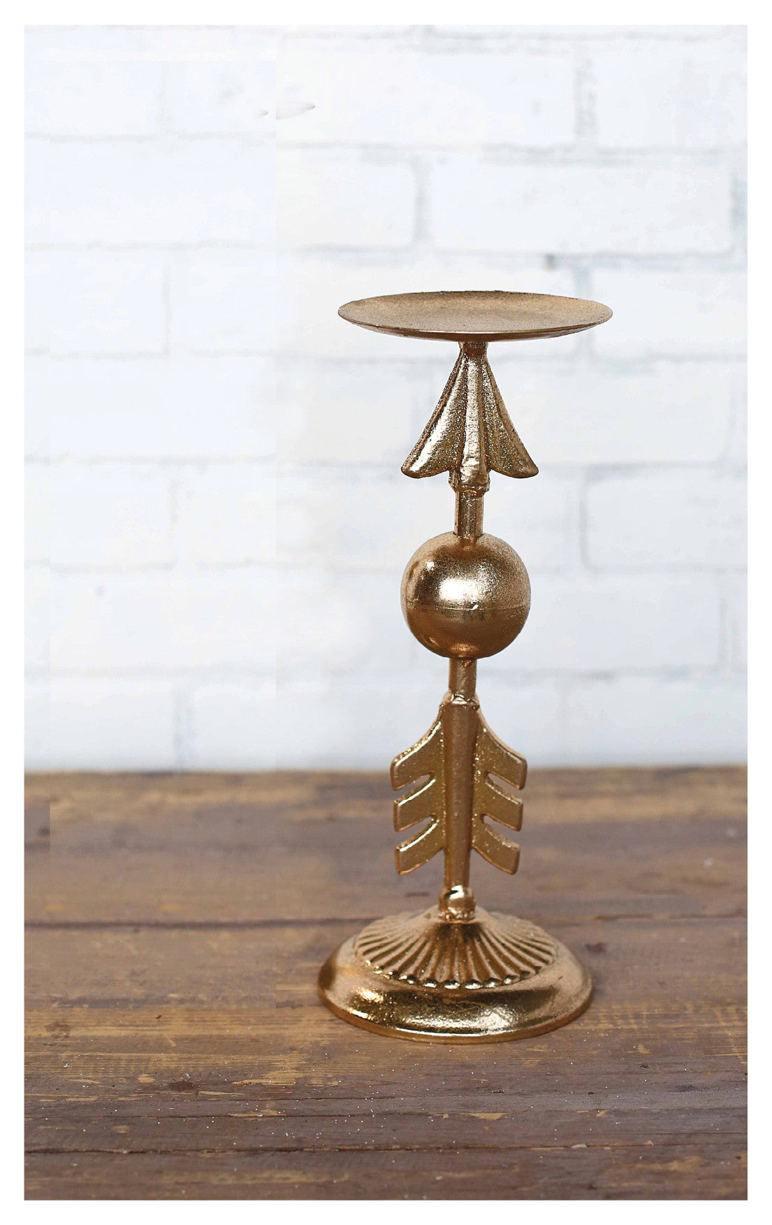 Gold Arrow Candleholder