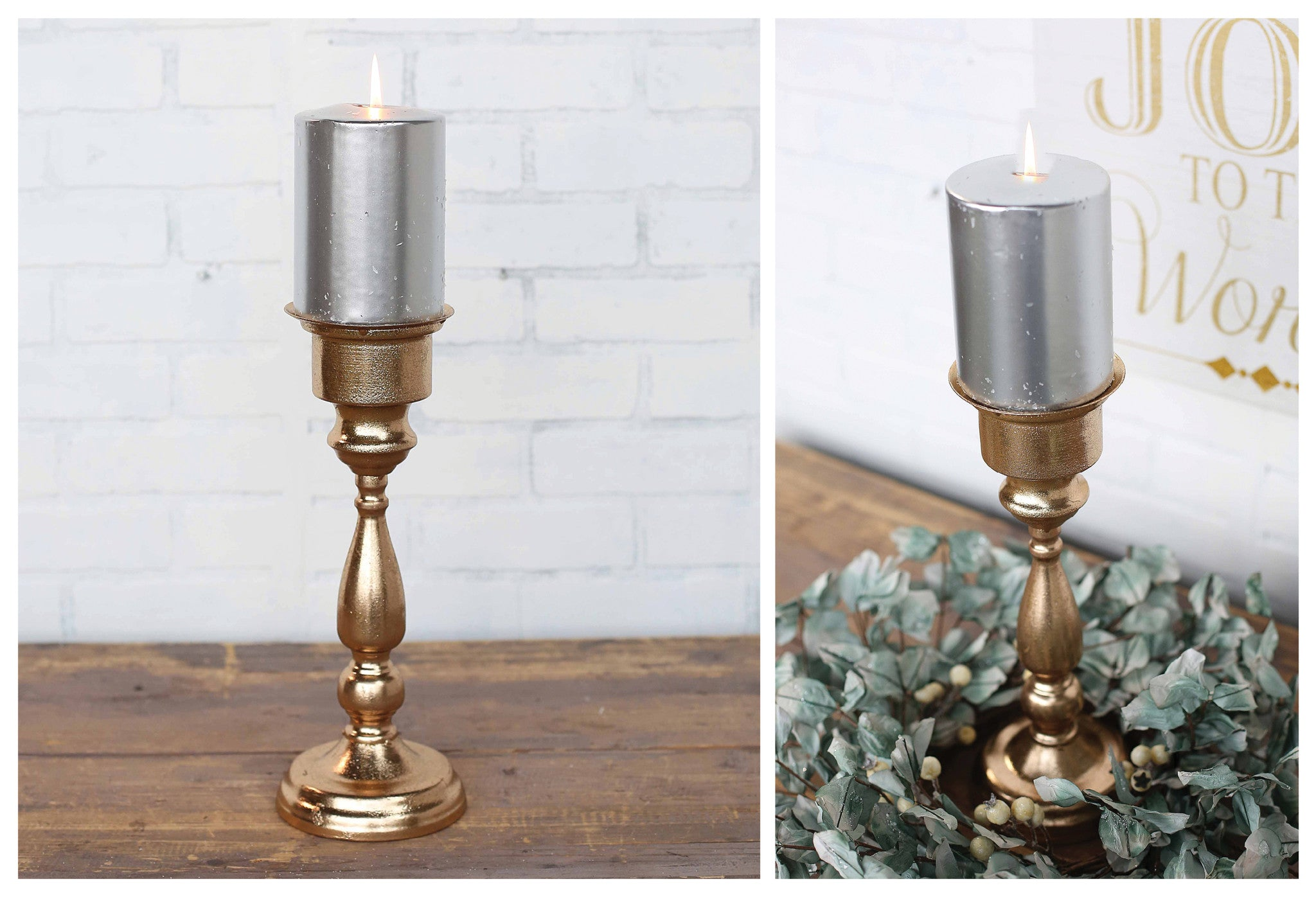 Champagne Gold Foil Single Candleholder!