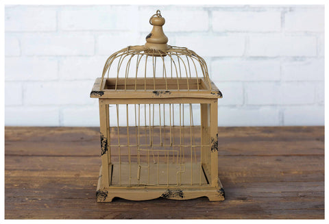 Distressed Metal Birdcage!
