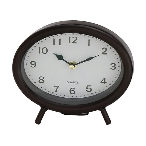 Oval Metal Table Clocks!