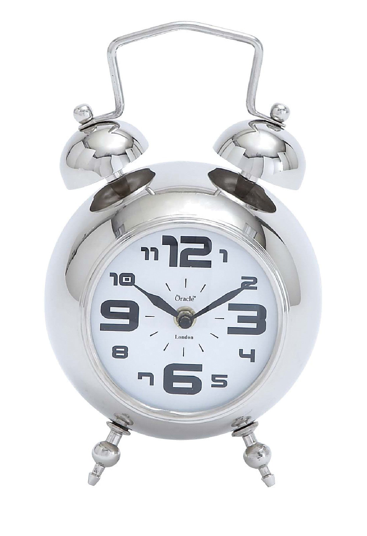 Table Clock in Steel Nickel!