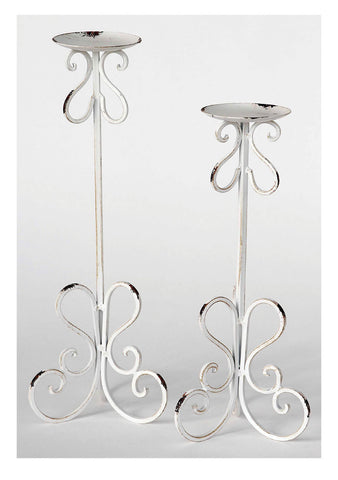 Distressed Metal Candleholders!