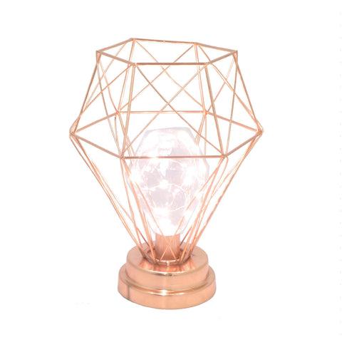 LED Metal Lamp in Lustrous Copper