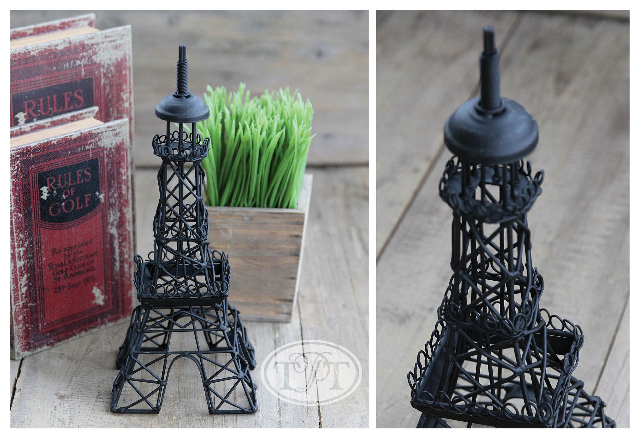 Beautifully Detailed Metal Eiffel Tower