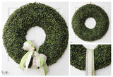 "Deluxe 27"" Boxwood Wreath"