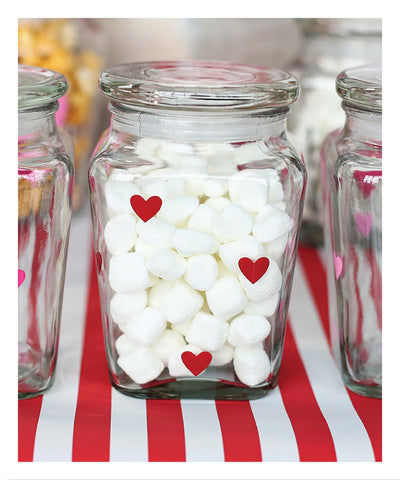 Polka Heart Lidded Jar