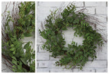 Seeded Smilax & Twig Wreath