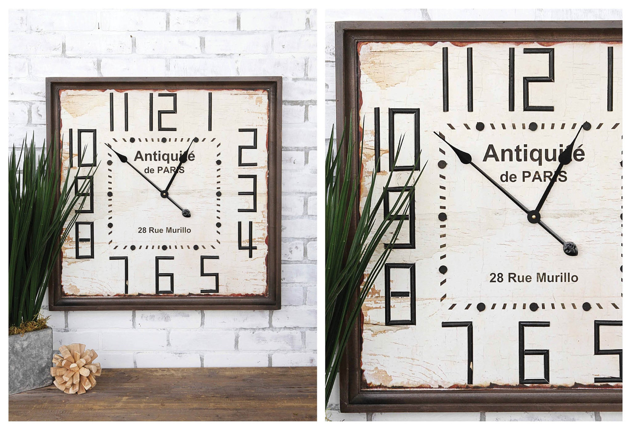 ANTIQUITE DE PARIS Wood Wall Clock
