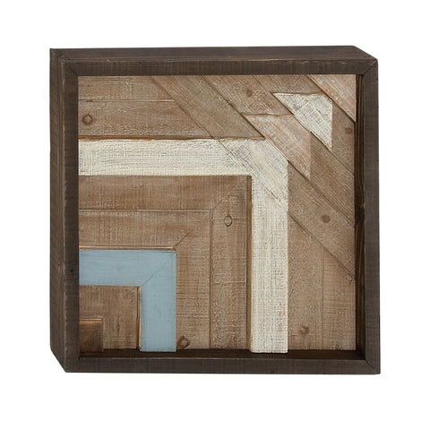 Geometric Arrow Wood Wall Plaque