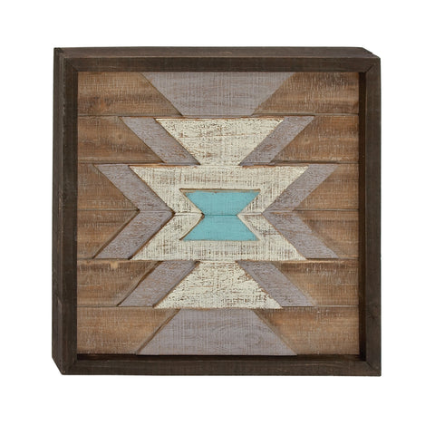 Geometric Star Wood Wall Plaque