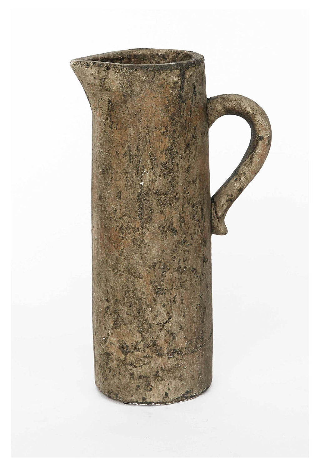 Tall Rustic Ceramic Pitcher