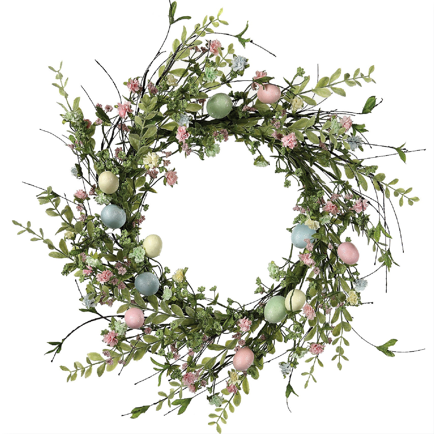 Floral Easter Egg Wreath!