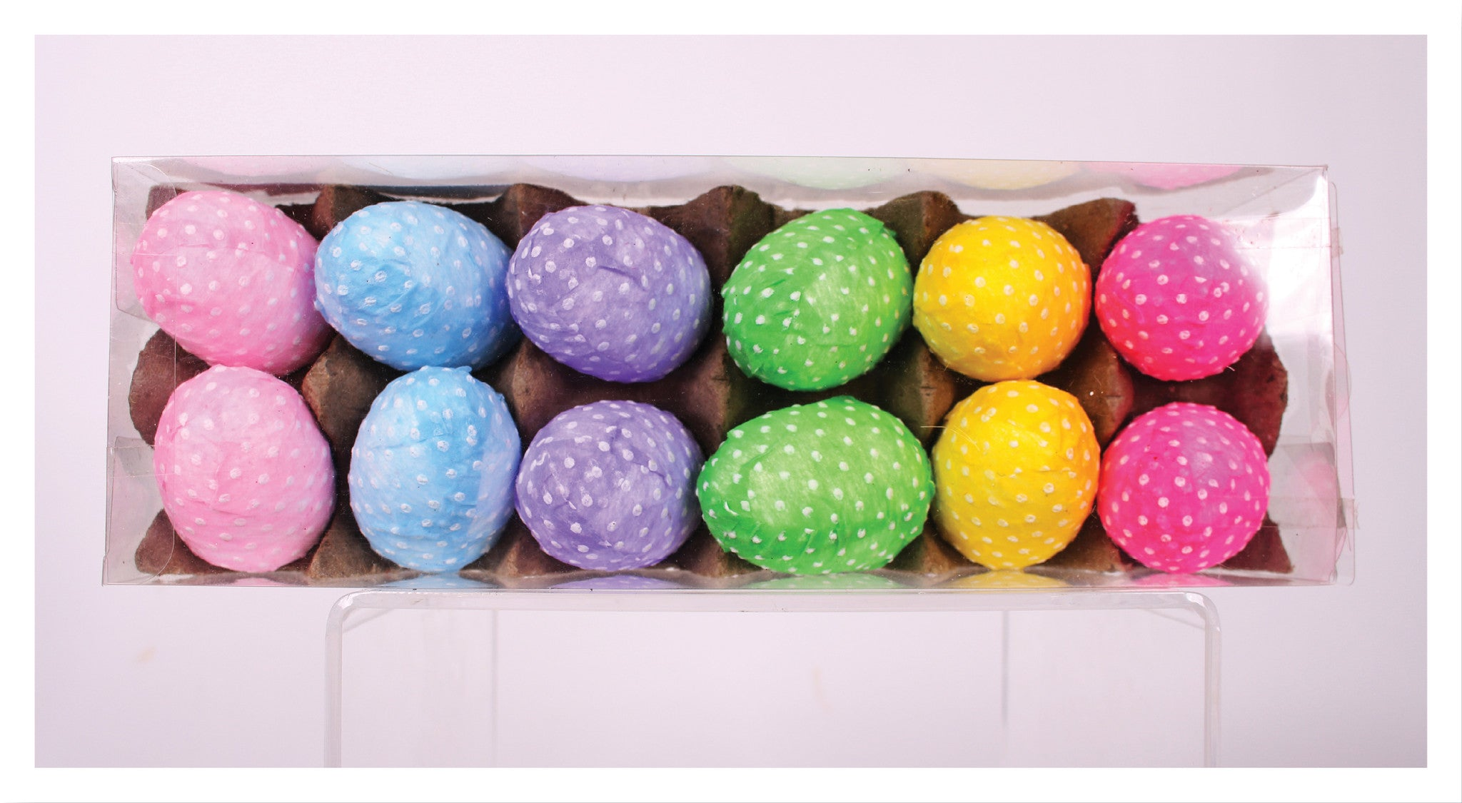 "Crate of 12  2.5""Fabric Eggs!"