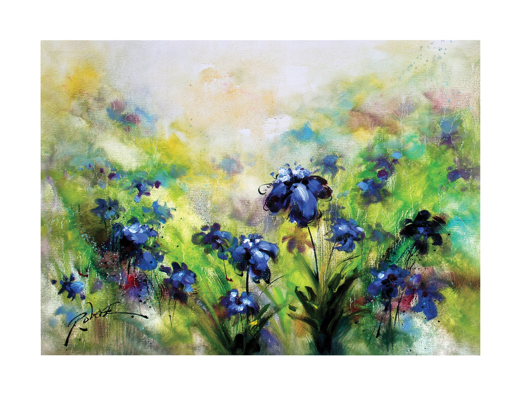 Canvas Cornflower Painting