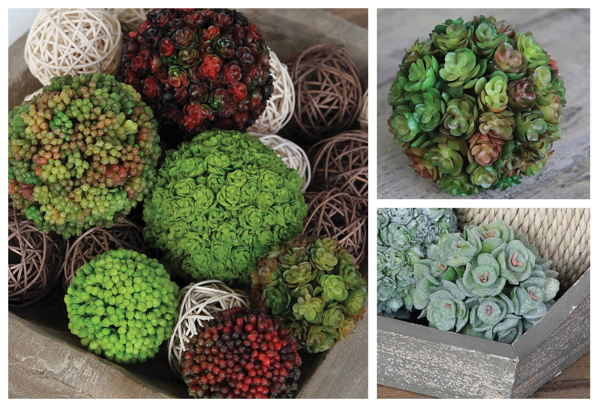 Decorative Floral Orbs