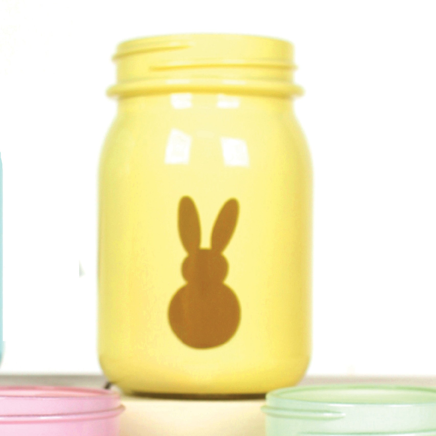 Frosted Glass Bunny Jars!