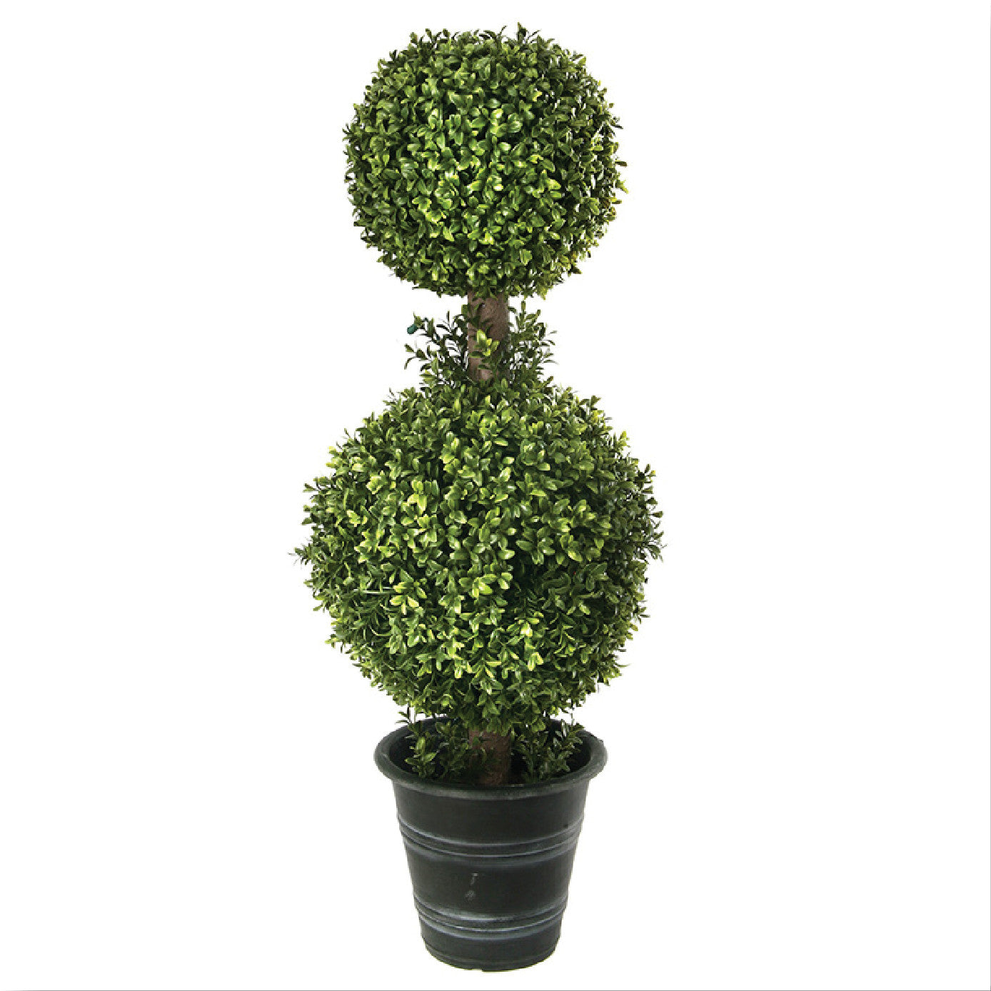 "24"" Plastic 2-Ball Boxwood Topiary!"