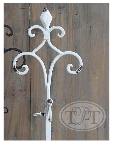 Metal Wreath Stands with Fleur-de-lis Finial