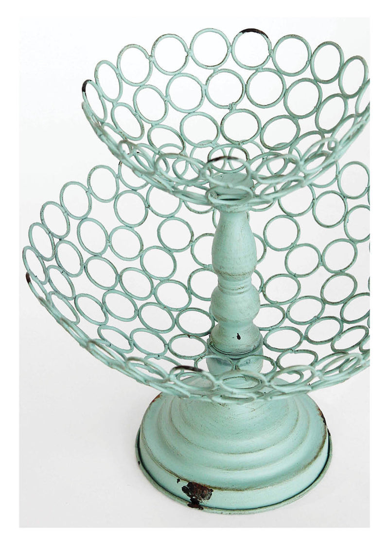 2-Tier Basket with Wire Rings