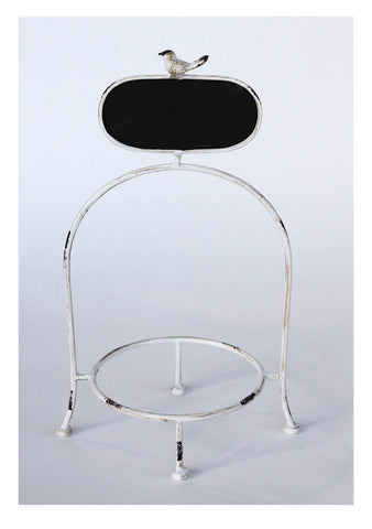 Cream Plate Holder with Oval Chalkboard