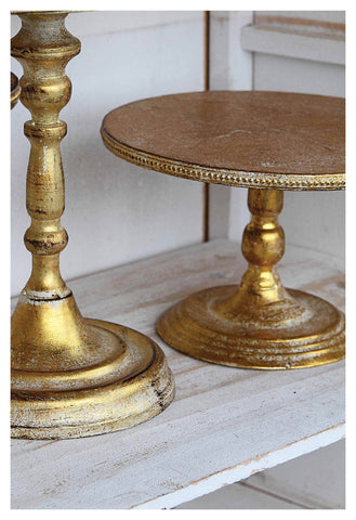Candle Holders/Cake Stands in Gold and Silver