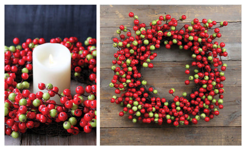 "Beautiful 20"" Crabapple Wreaths"