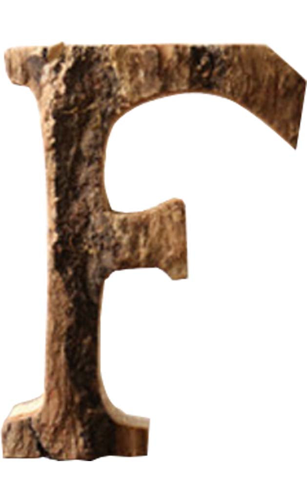 Wooden Letter 'F' Hanging Sign Retro Soft Decoration  wall d??cor