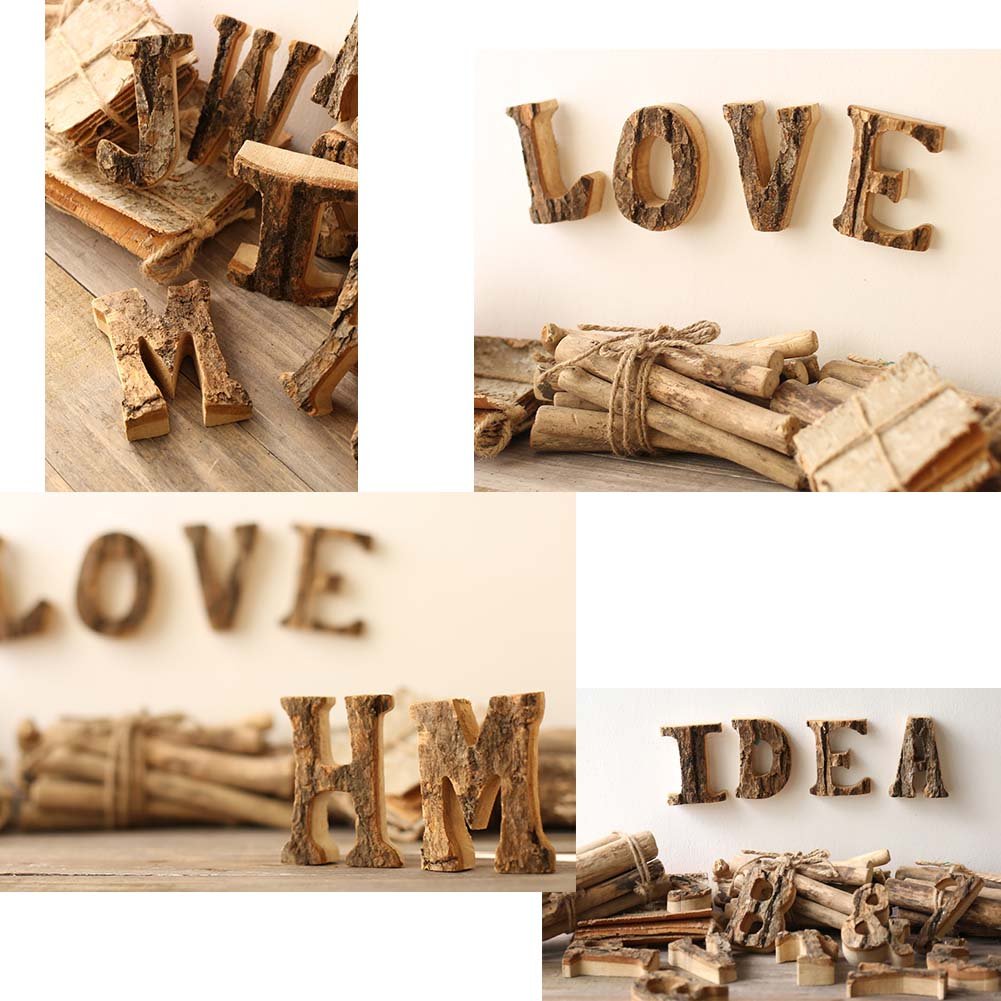 Wooden Letter 'L' Hanging Sign Retro Soft Decoration Wall decoration Props