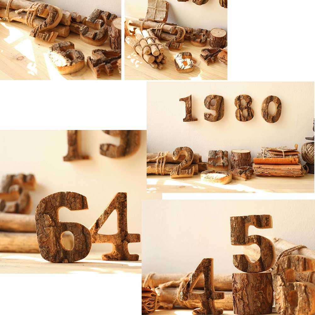 The Number 8 Wooden FiguresDecoration Window Display Hanging Wall Decor