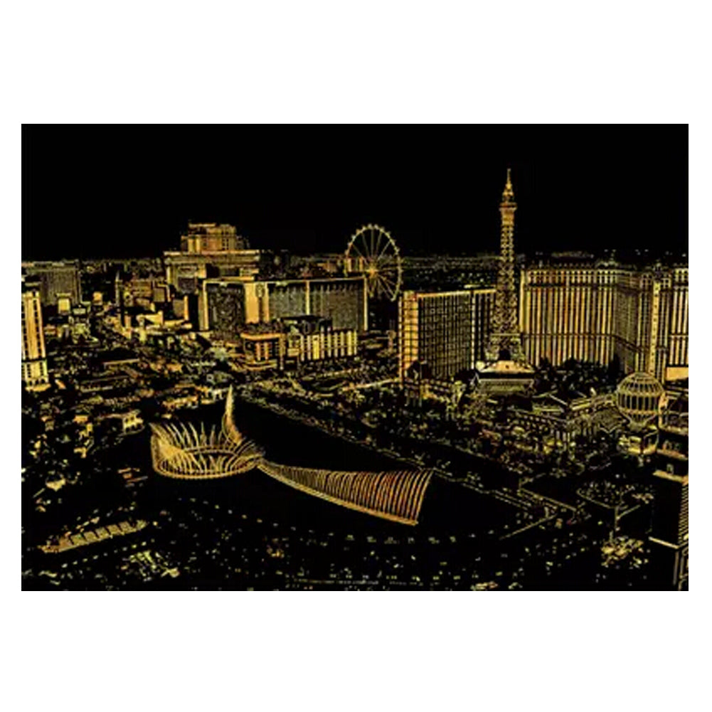 Las Vegas: The New DIY Creative Scratch Night View Game Draw