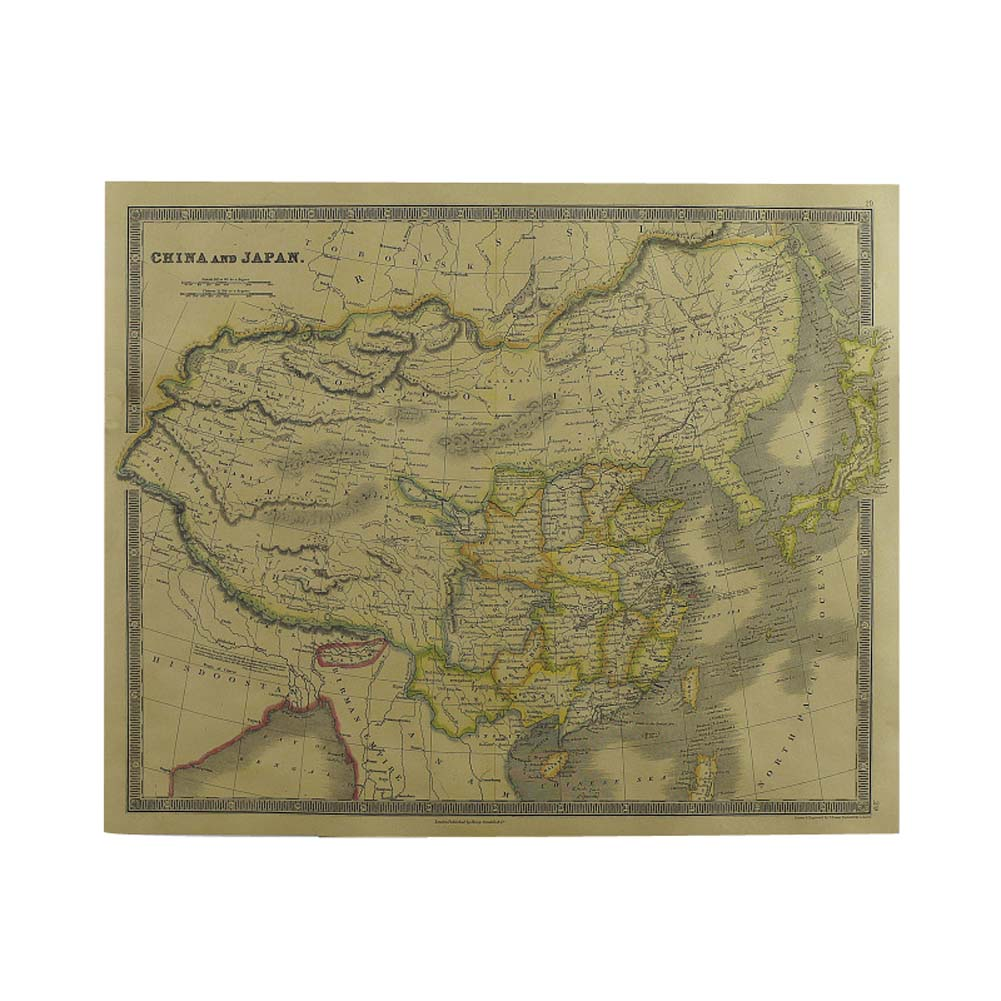 Kraft Paper Old World Map Navigation Bar Interior Decorative Painting Posters