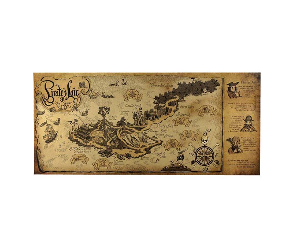 Painting Posters Old World Map Kraft Paper Navigation Bar Interior Decorative