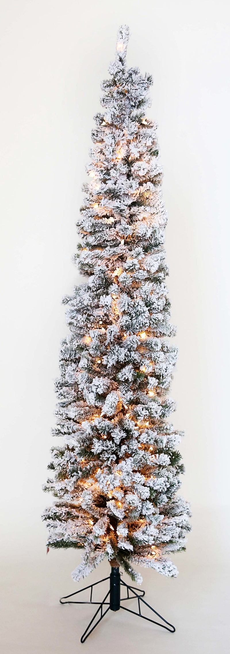 LIT FLOCKED DARWIN PENCIL PINE TREE