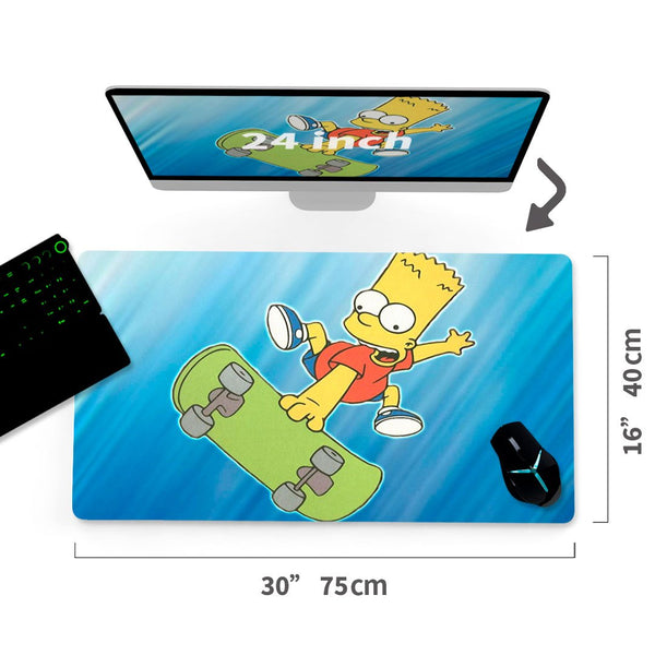 "Custom The Simpsons A/C Mouse Pad 30""x16""1"