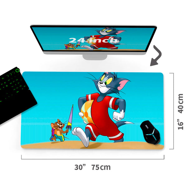 "Custom Tom and Jerry A/C Mouse Pad 30""x16"" - MyCustomMousePad"