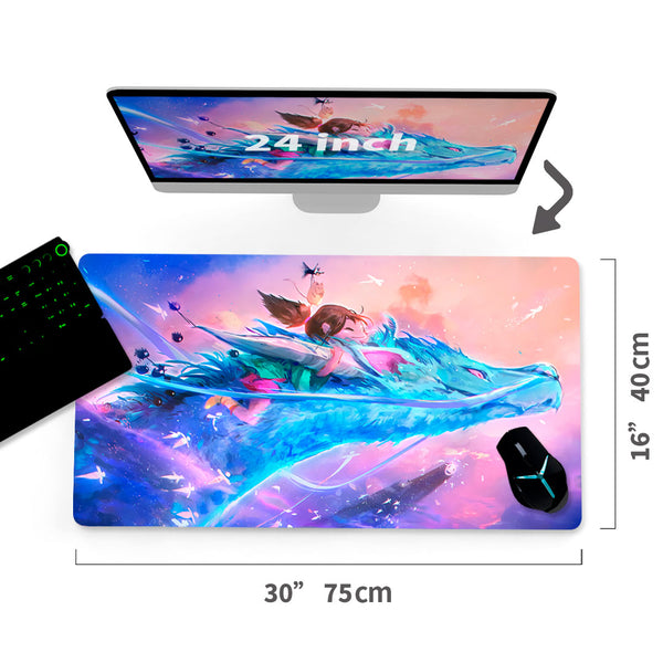 "Custom Spirited Away A/C Mouse Pad 30""x16"" - MyCustomMousePad"