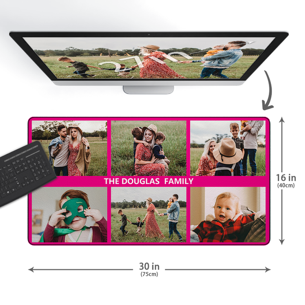 Custom Photo&Text Mouse Pad With 6 Photos - MyCustomMousePad