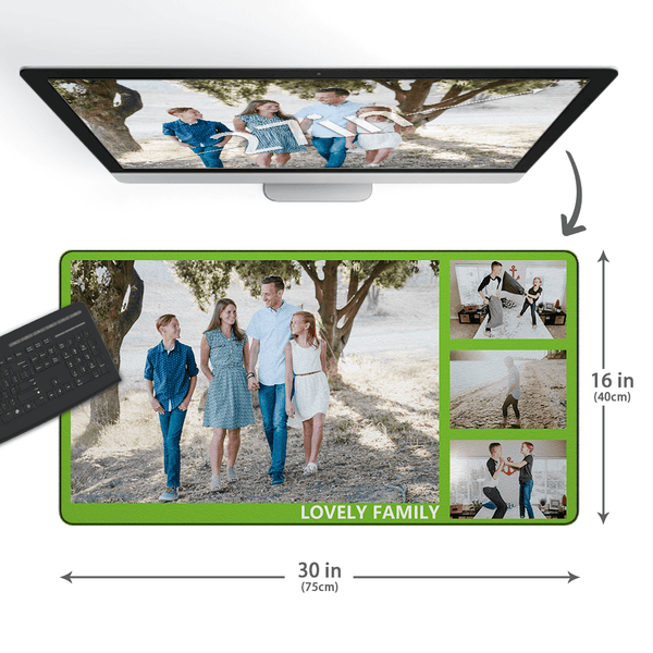 Custom Photo&Text Mouse Pad With 4 Photos - MyCustomMousePad