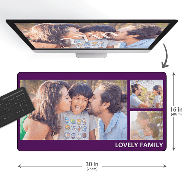 Custom Photo&Text Mouse Pad With 3 Photos